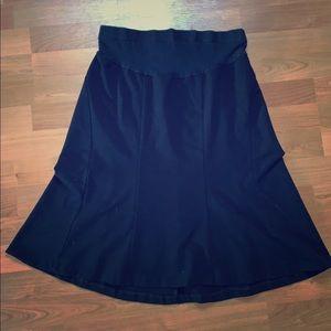 Black motherhood maternity flowy skirt